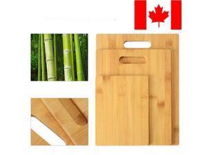 3PK Bamboo Cutting Board Chopping Board Serving Platter Set