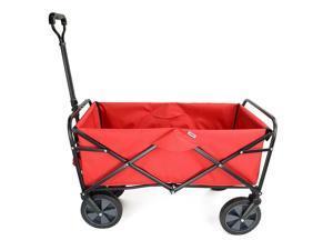 Red Folding Beach Outdoor Wagon Collapsible Utility Garden Shopping Cart Outdoor