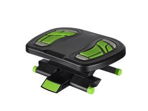 Ergonomic Angle and Height Adjustable Footrest For Home  Work,Green
