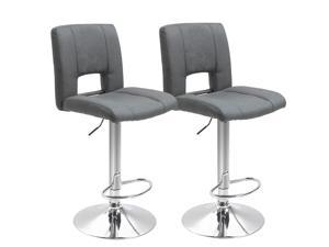 Swivel Linen Fabric Bar stool Armless Adjustable Height, Set of 2