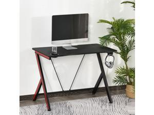 """41"""" Gaming Computer Desk Writing Table Curved Front w/ Headphone Hook"""