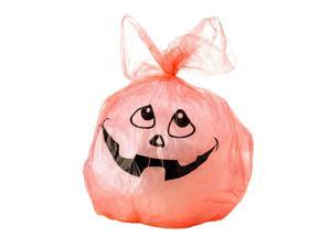 """Ghostly Ghouls Halloween Lawn bags with Twist ties, 24""""x30"""", 10pcs/Pack - Orange"""