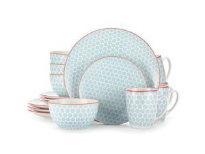 16-Piece Dinnerware Set Ultra Hygienic Blue, Service for 4