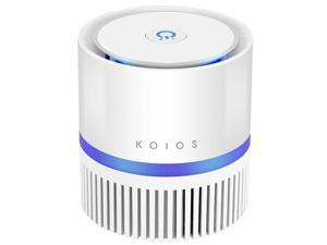 KOIOS Air Purifier, Desktop Air Cleaner with 3-in-1 True HEPA Filter for Home Bedroom Office, Table Air purifiers for Allergies and Pets, Odor and Dust Eliminator for Wildfire Smoke, Night Light