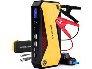 DBPOWER 800A Peak 18000mAh Portable Car Jump Starter (up to 7.2L Gas/5.5L Diesel Engine) Portable Battery Booster with LCD Screen, Storage Temperature 95°F