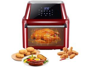 ZOKOP Air Fryer Oven Combo, 16.9 Quarts 1800W 10-in-1 ETL Listed Air Fryer Toaster Oven, Rotisserie, Dehydrator, Oilless Cooker, 8 Cooking Presets & 9 Accessories, LED Touch Screen Auto-Shutoff Safety