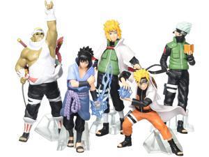 FUNWIZ Naruto Uzumaki Kakashi Sasuke PVC Figure (Set of 5)
