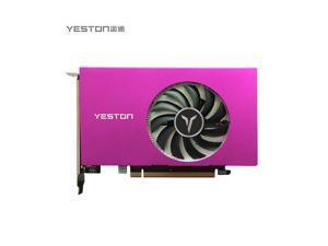 Yeston AMD Radeon RX 550 Graphics Card(FAST SHIPPING within 7-9 DAYS), 4GB 128-Bit GDDR5 PCI Express 3.0 x 8, VGA/HDMI/DVI-D Tri-ports, DirectX 12, OpenGL 4.5, Low Profile GPU, Desktop Video Card