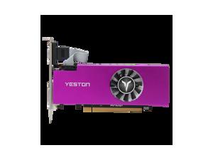 Yeston AMD Radeon RX 560 Graphics Card , 4GB 128-Bit GDDR5 PCI Express 3.0 x 8, VGA/HDMI/DVI-D Tri-ports, DirectX 12, OpenGL 4.5, Low Profile GPU, Desktop Gaming Video Card