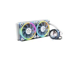 Yeston * zeaginal Sakura 240 integrated CPU supports Intel / AMD platform PWM temperature control fan water cooling radiator ARGB synchronous fan