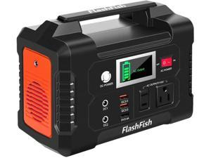 FlashFish 200W Portable Power Station, 40800mAh Solar with 110V AC Outlet for Road Trip Camping/Emergency Use -Back up Power
