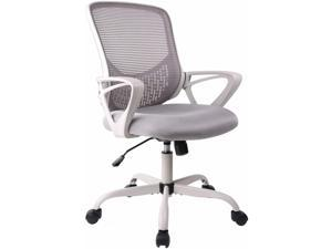 Smugdesk Office Chair, Ergonomic Desk Chair Computer Task Chair Mesh with Armrests Mid-Back for Home Office Conference Study Room, Gray