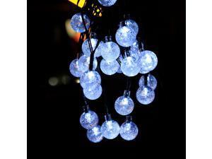 Led Bubble String Lights Outdoor Christmas Decoration Garden Lights Indoor Festive Atmosphere Solar String Lights Blue