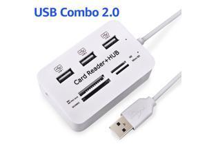 USB Hub 2.0 USB Splitter Micro USB 2.0 Hub Multi Type C Hub Card Reader All In One USB C Adapter For Macbook Laptop PC