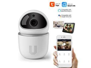 Home Security WIFI Camera 1080P Wireless IP Camera Baby Monitor with Motion Detection P/T/Z Security Camera, TF Card Record, 2 Way Audio and Night Vision Alexa Voice Control Tuya APP Remote Control fo
