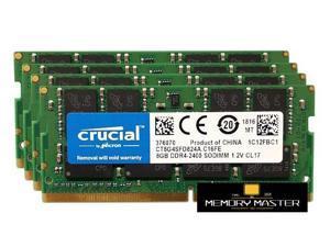 Crucial 32GB(4X8 GB) DDR4 2400 LAPTOP RAM PC4 19200 SODIMM Laptop Memory 260-PIN CL19 CT8G4SFD824A.C16FE