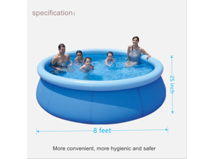 Inflatable Swimming Pool (±8 ft X 25 in), Swimming Pools Above Ground for Adults and Children, Suitable for Garden Backyard Outdoor Summer Water Party