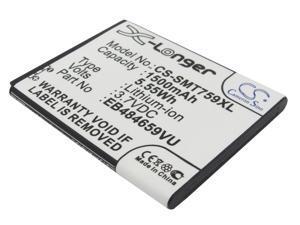 Battery Replacement for Samsung Galaxy S WiFi 4.2 i8350 Omnia SCH-S738C Conquer 4G Galaxy Wonder Focus Flash Exhibit II 4G SGH-T404 EB484659VU EB484659VA EB484659VABSTD EB484659VUBSTD TH1B825AS/5-B