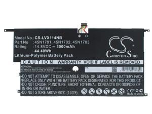 Battery Replacement for Lenovo ThinkPad X1 Carbon20A8-8S35W03 ThinkPad New X1 Carbon 20BTA06 SB10F46441 45N1702 45N1701 4ICP5/58/73-2 SB10F46440 45N1700 00HW002 45N1703 SB10F4644