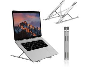 """Romoss Portable Laptop Stand - Adjustable Aluminum Foldable Laptop Holder Riser Computer Stand, Compatible with MacBook Air Pro, iPad, HP, Lenovo, Dell, More 10-17"""" Laptops and Tablets"""