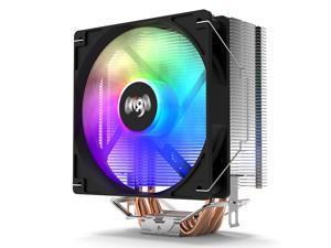 aigo ICE400 CPU Air Cooler 4 Heatpipes 120mm PWM Fans HDT Technology LED Rainbow Radiator CPU Air Cooling for Intel LGA 775/115X/1366/2011 for AMD AM4 AM3+ AM3