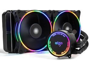 aigo AC240 240mm CPU Liquid Cooler All-in-ONE Water Cooling System Rainbow LED Riadator 120mm PWM Fans for Intel LGA 2066/2011/1200/115x for AMD AM4/AM3+/AM3…