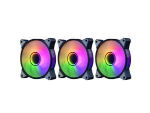 aigo AR12 Pro 3PACK ARGB 120mm PWM Case Fans Use in Pc Case,Computer Cooling System 3 Pin 5V ARGB Addressable Motherboard SYNC Cooling Fan (3IN1)…