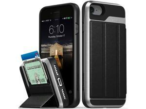 For  iPhone 8 7  ?vCommute?Leather Wallet Card Holder Stand Case Cover