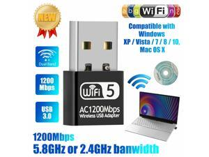 1200Mbps Dual Band USB 3.0 Wireless Wifi Adapter Network Receiver for Windows PC