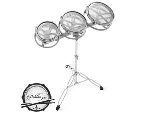 """Roto Tom Drum Set with Stand - 6"""", 8"""", 10"""" Toms with Remo Heads"""