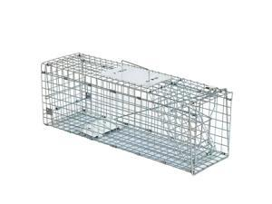 """Live Animal Trap Cage 24""""X8""""X 7.5"""" Humane Rodent Cage Squirrel Steel Outdoor"""