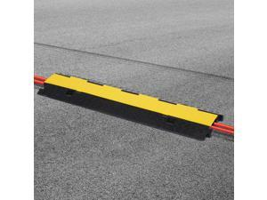 Cable Protector Ramp Rubber Floor Cord Cover Dual Channel Flip-Open Lid Heavy