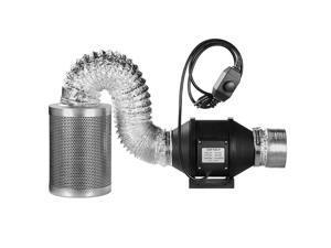 NEW Filter Ducting w/ Fan  Temperature Grow Tent Complete Ventilon Combo Kit