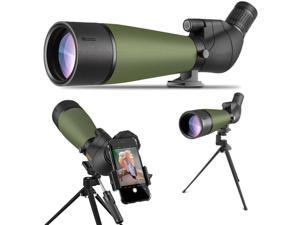 Spotting Scope with Tripod Carrying Bag and Smartphone Adapter Waterproof Scope