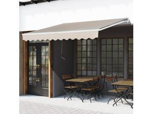 Clearance Sale 13'x8' Sun Shade Deck Canopy Sheltern Manual Retractable