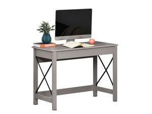 Rectangle Laptop Table Home Office Desk Writing Workston, Grey