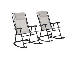 Clearance Sale Outdoor Rocking Chair Set Folding Lawn Furniture Garden Rocker