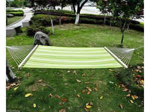 """75"""" 2-Person XL Green Camping Hammock Bed w/ Pillow Swing Bed Chain"""