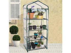 4 Tier Portable Mini LIVINGbasic™ W/ Clean Cover Garden Plant Warm House Living