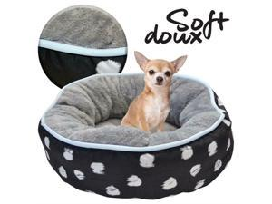 Small Round Pet Bed, 40cm For Home Bedroom Living Room For Small Animals Dog Cat
