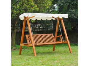 3 Seater  Swing Chair Hammock Garden Furniture Heavy-Duty w/ Canopy Po Garden