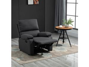 Single Recliner Sofa Lounge Manual Adjustable Reclining Armchair Home Furniture