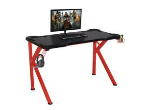 Office Home Computer Desk, Gaming Desk with Hook  Cup Holder -