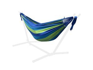9Ft Double Hammock for Travel Beach Yard Outdoor Camping - GreenWise™ - Blue