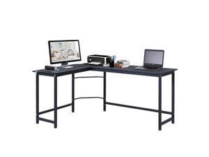 L-Shaped Gaming Desk Computer Desk Wood Corner PC Workston Large Home Office