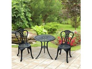 Clearance Sale 3pcs Café Bistro Set Po Table Chair Garden Aluminum