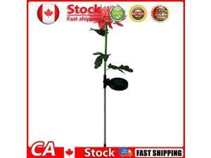 2pcs LED Solar Light Chrysanthemum Lawn Stake Lamps Garden Decor Pink CA