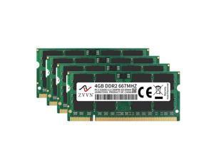 ZVVN 16GB Kit (4x 4GB) 200-Pin DDR2 SO-DIMM DDR2 667 (PC25300) Laptop Notebook Memory Model 2S4E67ZV04