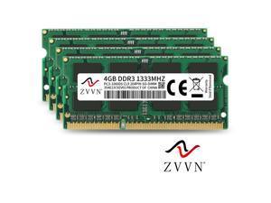 ZVVN 16GB Kit (4x 4GB) 204-Pin DDR3 SO-DIMM DDR3 1333 (PC3 10600) 1.5V Laptop Notebook Memory Model 3S4E13C9ZV04