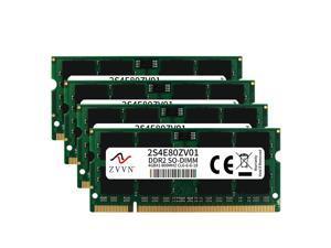 ZVVN 16GB Kit (4x 4GB) 200-Pin DDR2 SO-DIMM DDR2 800 (PC2 6400) Laptop Notebook Memory Model 2S4E80ZV04